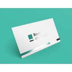 carte de correspondance avec vernis 3D sur logo (jusqu'à 100x210)